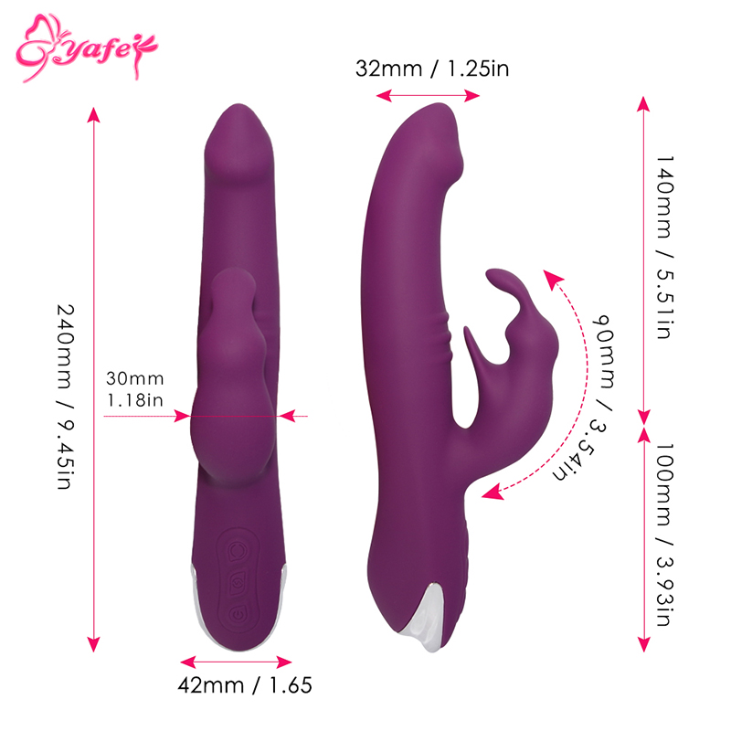 YAFEI 360 Degree Rotation Clitoral Stimulator Silicone 7 Speed Dildo Rabbit Vibrator Erotic Sex toys for Women Adult sex toys