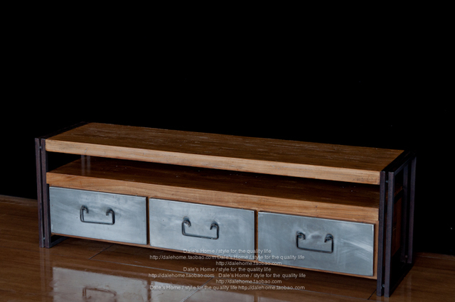 US $2775.0 |Iron Wood Wardrobe American Village Loft Retro Iron Pine TV  Cabinet High Quality Furniture In Wardrobes From Furniture On  Aliexpress.com | ...