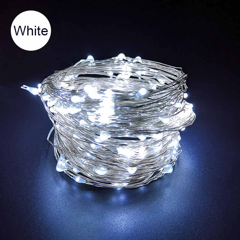 USB/3AA LED String Light LED Silver Wire String 10M Holiday Outdoor Waterproof Fairy Lights For Christmas Party Wedding