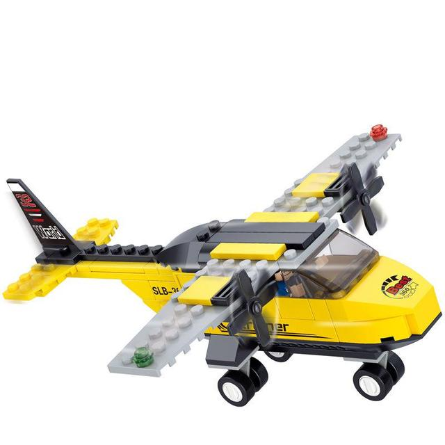 BOHS Building Blocks Space Shuttle Aviation Trainer Training Aircraft Planes Children 110pcs