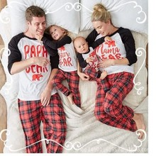 Newborn Baby Pyjamas Family Matching Christmas Pajamas Suits Home Sleepwear  Papa Mama Bear Baby Bear Shirts 8db31bf72
