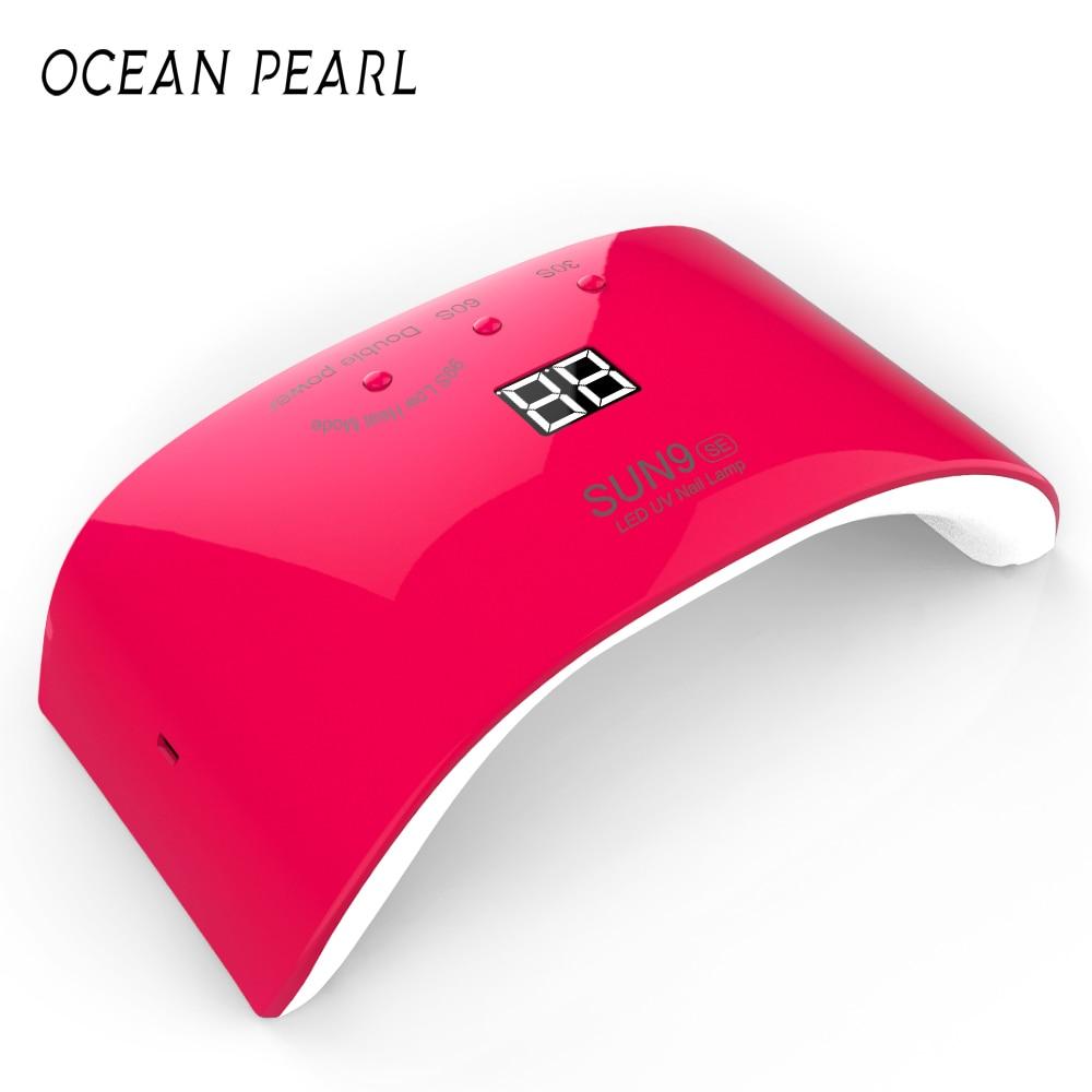 OCEAN PEARL Led UV Lamp Nail dryer 24W Nail Lamp for Nail Gel Polish Manicure With Timer button Sensor Nail Art Tools