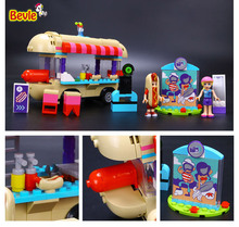 Bevle Lepin 01007 Friends Mobile Hot Dog Car Amusement Park Building Block 100% Compatible with Lepin 41129 Toy Kit Gifts