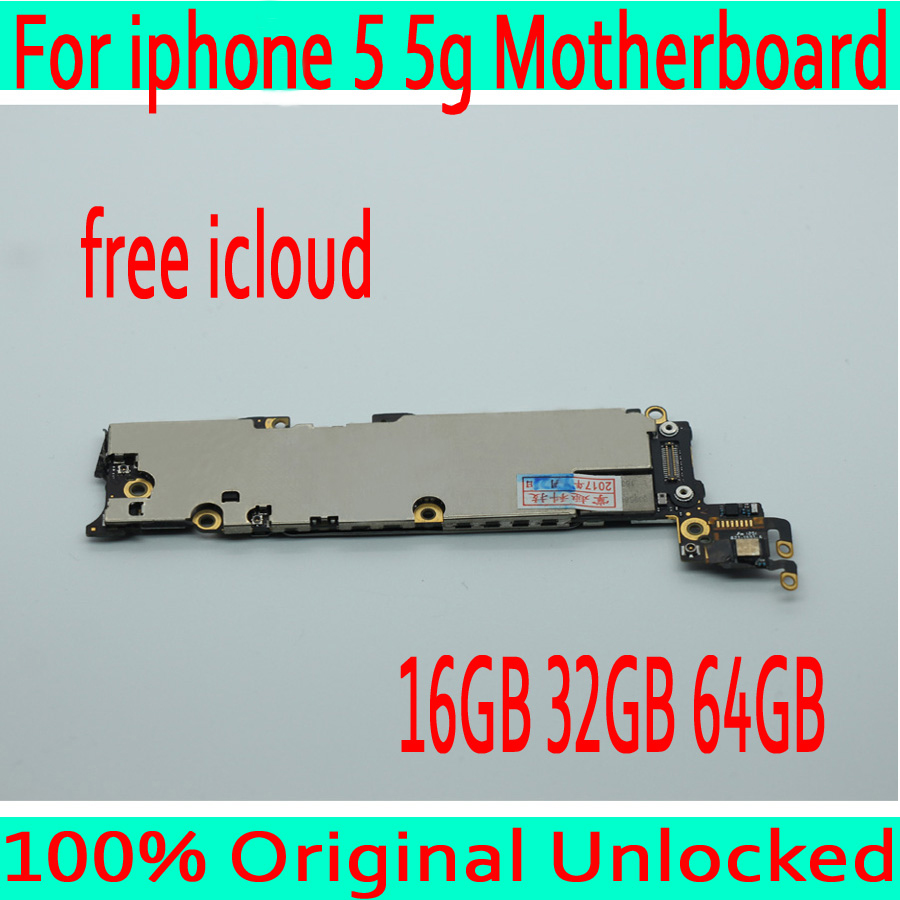 16GB 32GB 64GB for iphone 5 Motherboard with Clean iCloud Original unlocked for iphone 5 5g