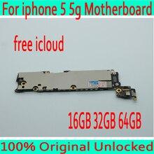 16 Гб/32 ГБ/64 ГБ для iphone 5 материнская плата с чистой iCloud, оригинальный разблокирован для iphone 5 5g логическая плата, 100% хорошие рабочие