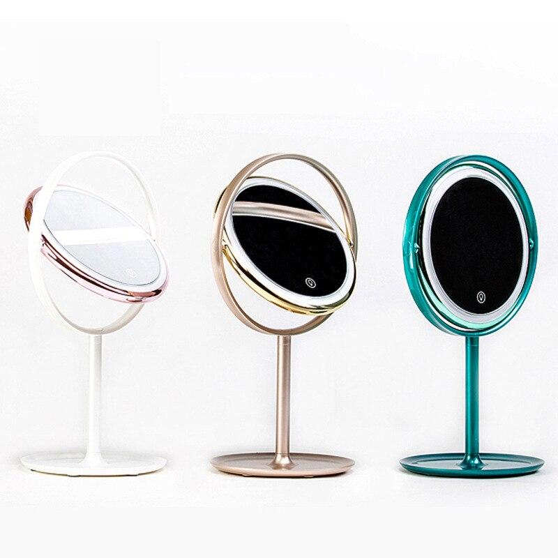 LED cosmetic mirror Vanity light portable beauty mirror lamp dormitory table decoration lamp girl princess dressing mirror light