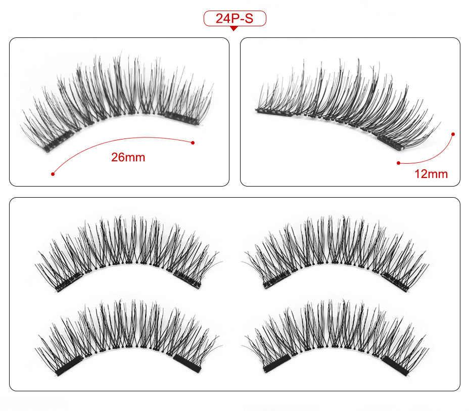 5bf4c6aa028 ... VICILEY magnetic eyelashes 6D magnet lashes with double tiny magnets  Natural False Eyelashes Handmade Eye Lashes
