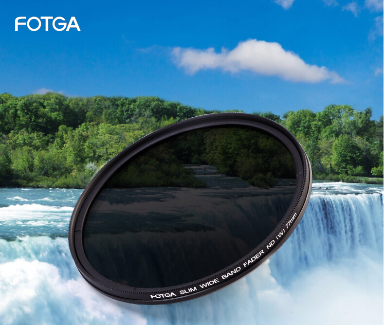 FOTGA 43/49/52/55/58/62/67/72/<font><b>77</b></font>/82 46mm Slim Fader ND Filter <font><b>Lens</b></font> Protector Variable Neutral Density ND2 to ND400 image