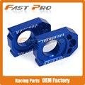 Trasero CNC Ajustador Cadena Bloque de Eje Para WR450F 04-15 WR250R WR250X WR250F 02-15 07-16 YZ125 YZ250 02-16 YZ250F YZ450F 03-08