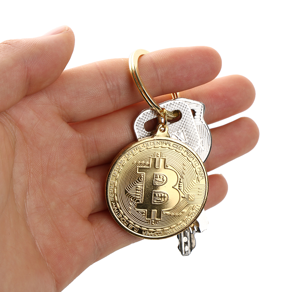 1pc physical Bitcoins Casascius Bit coin with the case of  gift of physical metal Antique imitation BTC coins Books 1