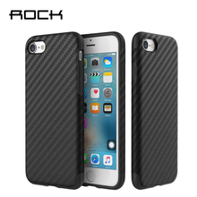 Rock Origin Series Textured Case For Apple iPhone 7 / 7 Plus Luxury Soft Carbon Fiber TPU Brand Phone Back Cover Cases For 7 rock royce tpu back cover holder case for iphone 7 plus gray
