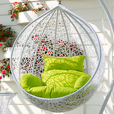 Fine European Indoor Balcony Outdoor Rattan Hanging Chair To