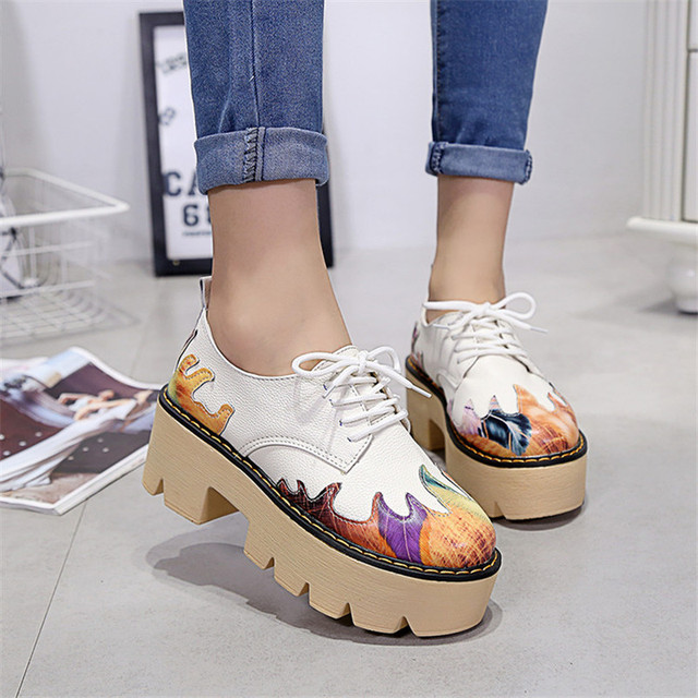 1f563588853 New Fashion Brand Shoes Women Pumps High Heels Ladies Platform Shoes Autumn  Leather Boots creepers women-in Women's Pumps from Shoes