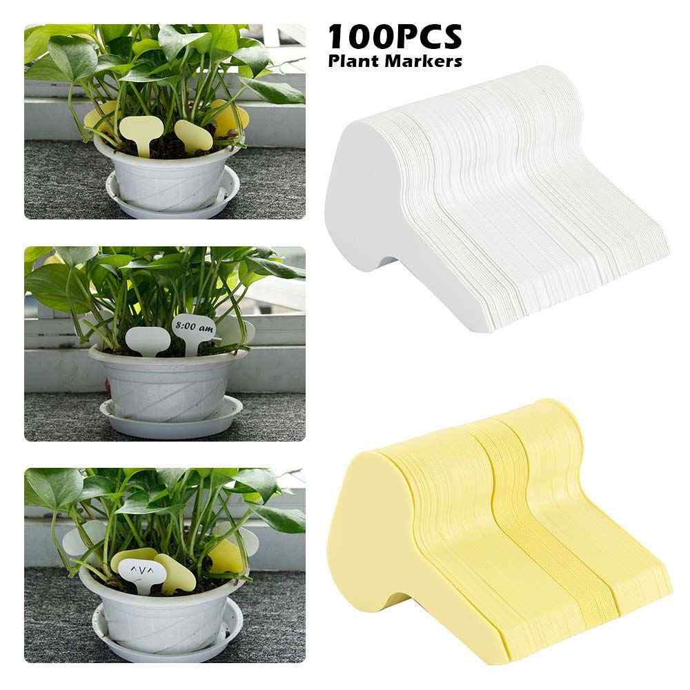 100pcs/lot Plant Tag T-type Plastic Nursery Garden Plant Label Flower Thick Tag Label Mark Garden Decoration Ornaments