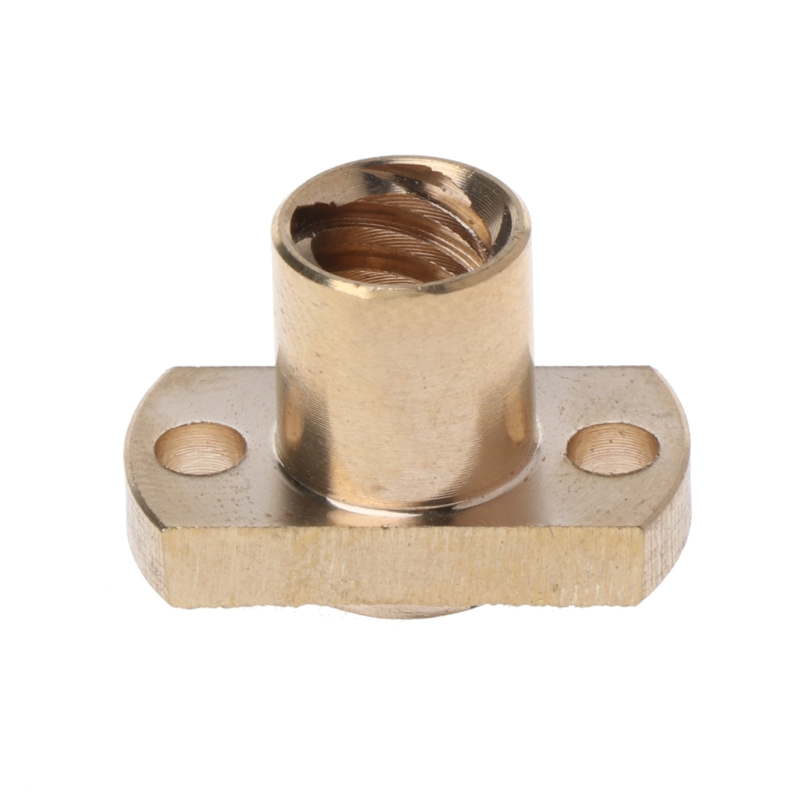 T8 Nut Pitch 2mm Lead 8mm Brass T8x8mm Flange Lead Screw Nut For CNC Parts 3D Printer Accessories
