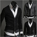 Mens Male Fashionable Cotton Premium Good Selling Classic Stylish V-neck Solid Fit Comfortable Button Sown Cardigan XL