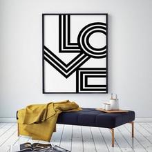цена LOVE Wall Art, Minimalist Print, Geometric Love Poster Modern Canvas Art Painting Wall Pictures For Bedroom Decor, No Frame онлайн в 2017 году