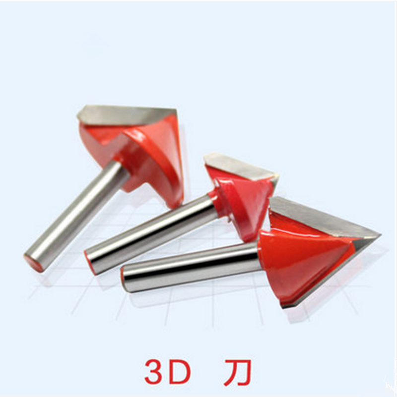 3pcs 6x32x120 Degree CNC Router Bits, Wood Engraving Tools On 3D Carving Cutting Machine