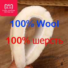 Natural Sheepskin Insoles Winter Real Fur Wool insoles Men Women Warm Soft Thick warm Cashmere Snow Boots Shoe Pad(China)