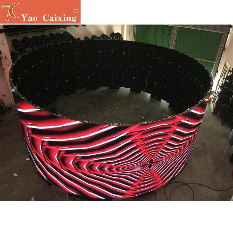 P3.91 Indoor 500x1000mm Curve Screen Aluminum Cabinet Display Smd Full Color Rental Screen Hub75 16scan Video Display
