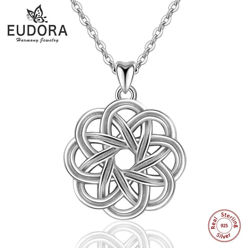 Eudora 100% 925 Sterling Silver Endless Love Cetics Knot