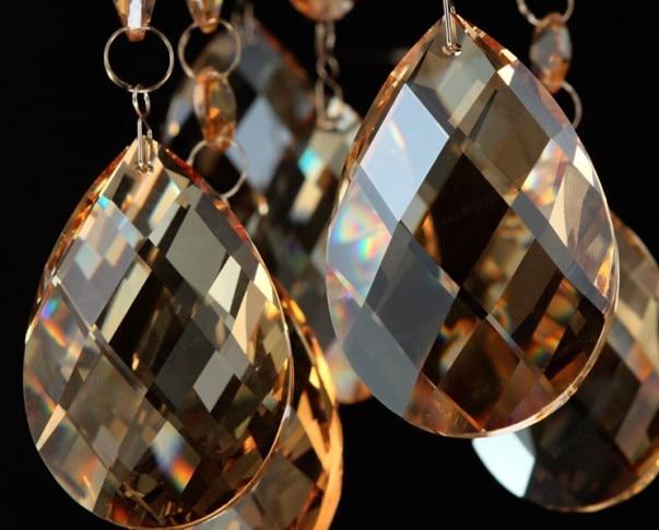 380pcs 38mm cognac crystal glass chandelier almond prism parts lighting pendant free shipping