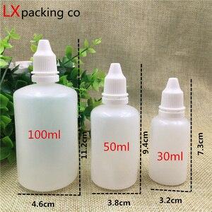 Image 5 - 100 adet ücretsiz kargo 5 10 15 20 30 50 100 ml buzlu şeffaf plastik ambalaj şişeleri boş su damlalıklı konteyner