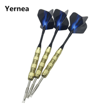 Yernea New 3Pcs Steel Tip Darts 15g Indoor Sports Entertainment Dart Nickel Plated Copper Body Aluminium Alloy Shaft Flight