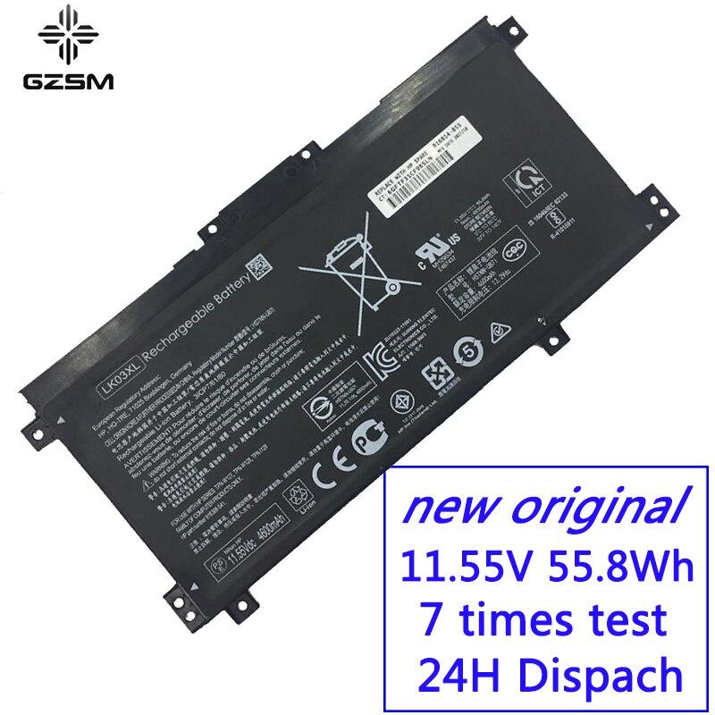 GZSM laptop battery LK03XL For HP HSTNN-UB7I for TPN-W127 W128  LK03055XL TPN-1129 HSTNN-LB7U