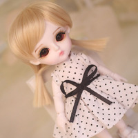 1/8 BJD Doll BJD/SD Fashion Cute Miu With Eyes For Baby Girl Gift Full Set (Doll +Clothes+Shoes +Wig ) Like Picture