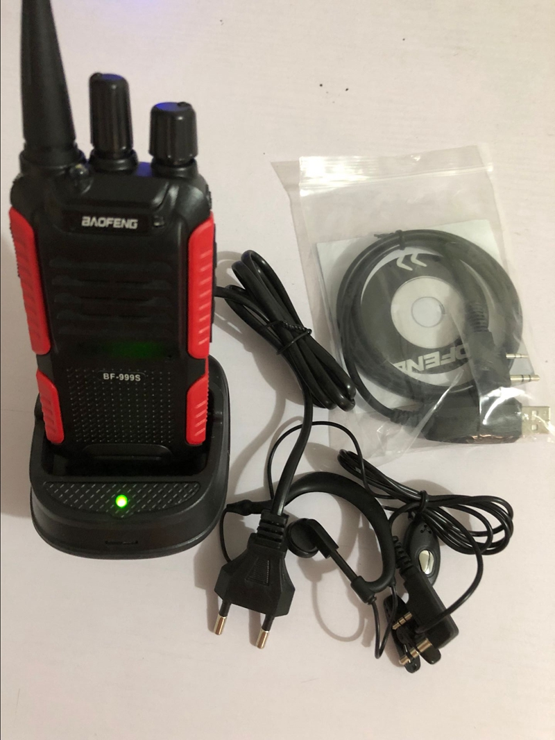 Baofeng BF 999S walkie talkie UHF 400 470mhz cheap model ham CB radio 16Channel 1800mAh battery FM radio transceiver BF 999S-in Walkie Talkie from Cellphones & Telecommunications