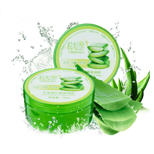 Brand Aloe gel face acne removal pockmark scar fading whitening moisturizing after-Sun repair facial mask cream 160g