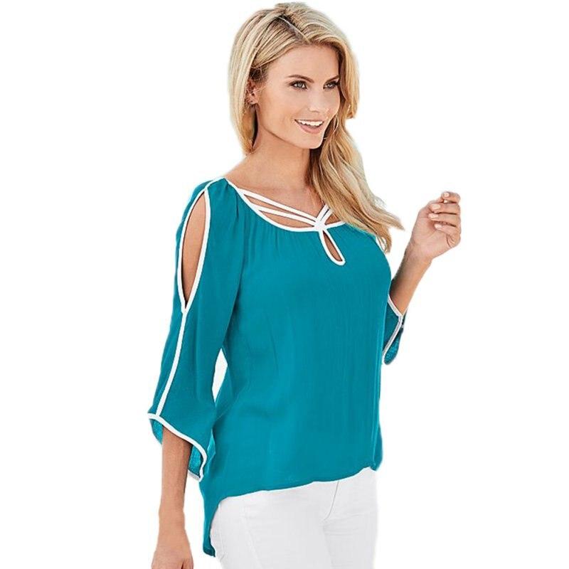 2018 Spring Summer Woman Chiffon Solid Shirt Casual irregular Blouses Loose Tops Woman Cloth Hot