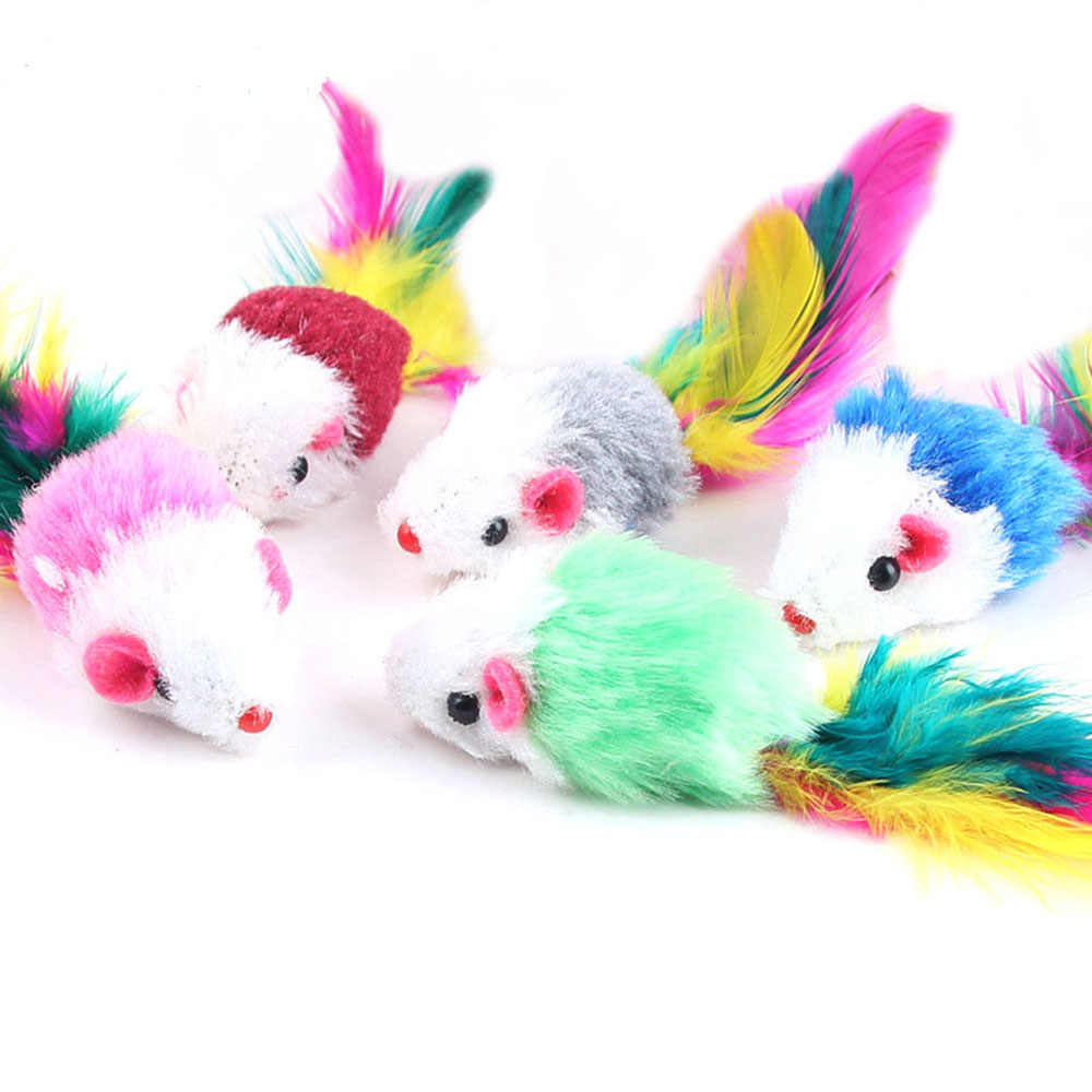 New Pet Cat Kitten Dog Playing Toy False Mouse Rat Toys Colors Randomly Multicolor