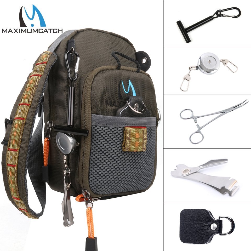 Maximumcatch Fly Fishing Bag Fishing Chest Pack Fly Bag With Five Fishing Tool Accessories maximumcatch fishing sling back pack outdoorsport fly fishing sling bag with fly patch