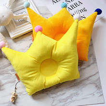 Baby Pillow Newborn baby pillows Head Positioner Velve flat head pillow for Infant Anti-rollover with Pendant lovely YCZ013(China)
