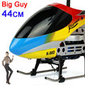 Alta Qualidade Super 44 CM 3.5ch Helicóptero Grande Rc Zangão Profissional Voando Brinquedo Helicóptero Rádio Controlado RC Helicópteros Elétricos