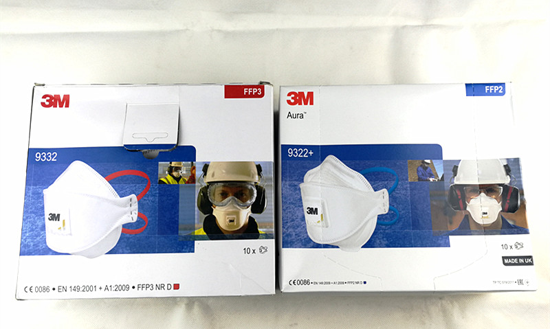 3M 9332 3M9322+ Flat Folded Particulate Respirator With Exhalation Valve FFP3 FFP2