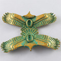 5pcs Imitation Creative Antique Gold  Lovely Animal Eagle Pendants  Women Jewelry Making Bracelet Accessory  55*24*5mm