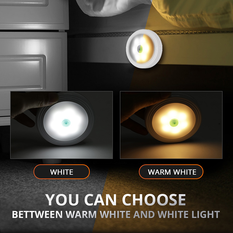 Partol Mini 4.5V Car LED Reading Light Portable Book Lamp For Childrens room corridor bedroom rest living room closet cabinet