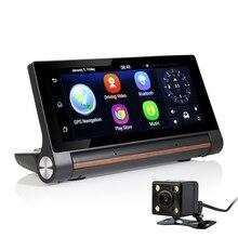 Udrive 7 дюймов 3 Г GPS Навигации Android 5.0 Bluetooth Wi-Fi Dashboad DVR FHD 1080 P Даш Камеры с Двумя Объективами Дополнительный Заднего вида GPS