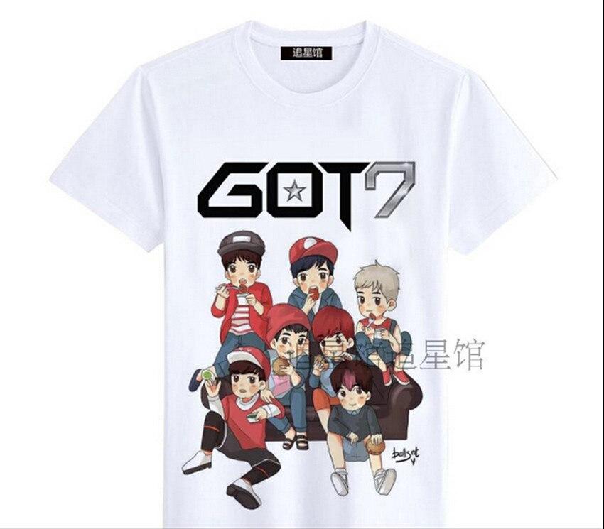 Ha ottenuto 7 got7 shinee kpop vestiti ulzzang harajuku stile coreano k-pop  k pop b72b5253a447