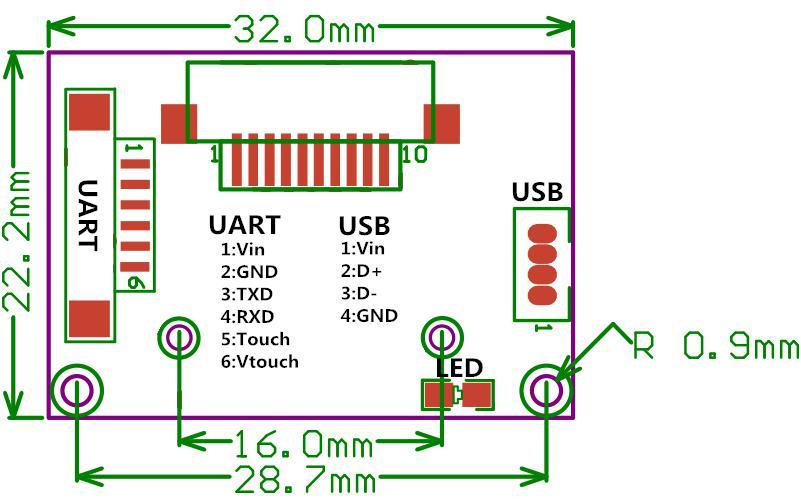 R311 Büyük Alan Kapasitif Parmak İzi Modülü Okuyucu - Güvenlik ve Koruma - Fotoğraf 5