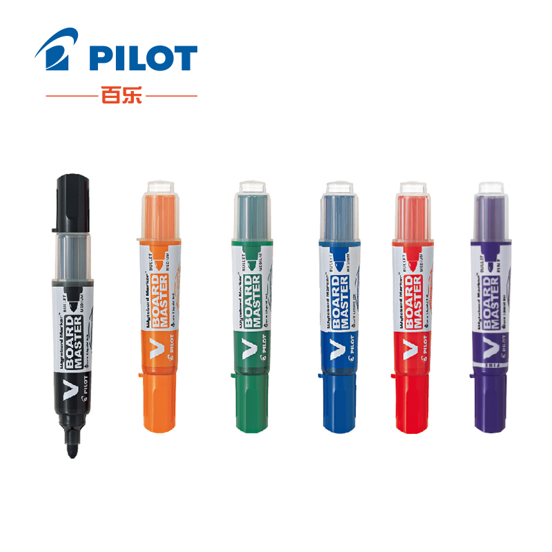 5pcs/lot Pilot V Board Master Medium Bullet Round Toe Whiteboard Marker Black/Blue/Red/Orange/Green