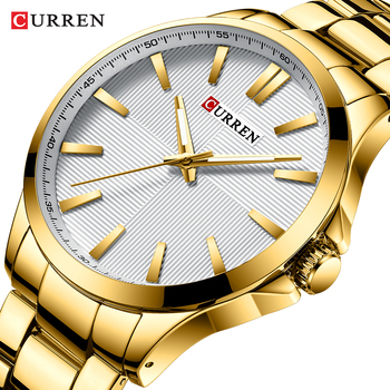 Mens Watches Top Brand Luxury Stainless Steel Band Watch for Men CURREN Wristwatch Fashion Business Quartz Clock Man Waterproof - discount item  47% OFF Men's Watches