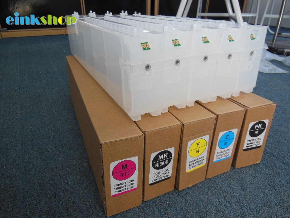 Empty Refillable Ink Cartridge  For Epson SureColor T3200 T5200 T7200 T3270 T5270 T7270 T3270D T5270D T7270DPrinter T6941-T6945 refillable color ink jet cartridge for brother printers dcp j125 mfc j265w 100ml