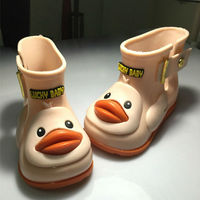 3 Colors Children S Cute Duck Rain Boots Boys And Girls Slip Baby Shoes Overshoes Waterproof