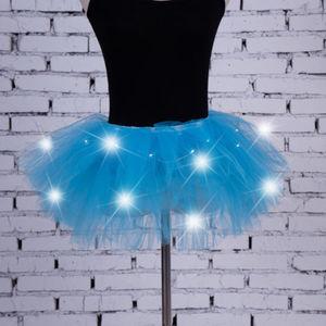 Image 5 - Sexy Girls Light Up LED Tutu Stage Vũ Tutu Ngắn Mini Skirt Dancewear Evening