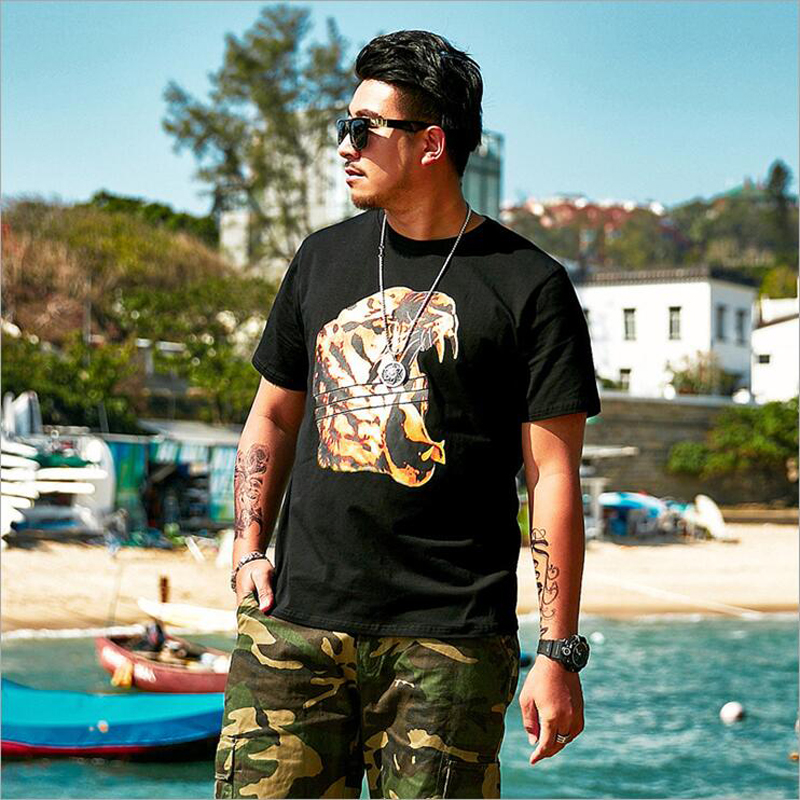 2019 Oversize Large Size Men's Short Sleeves Printed T Shirts Male Fat Guy Summer Big and Tall Mens Tee Clothes Plus XL 6XL 32