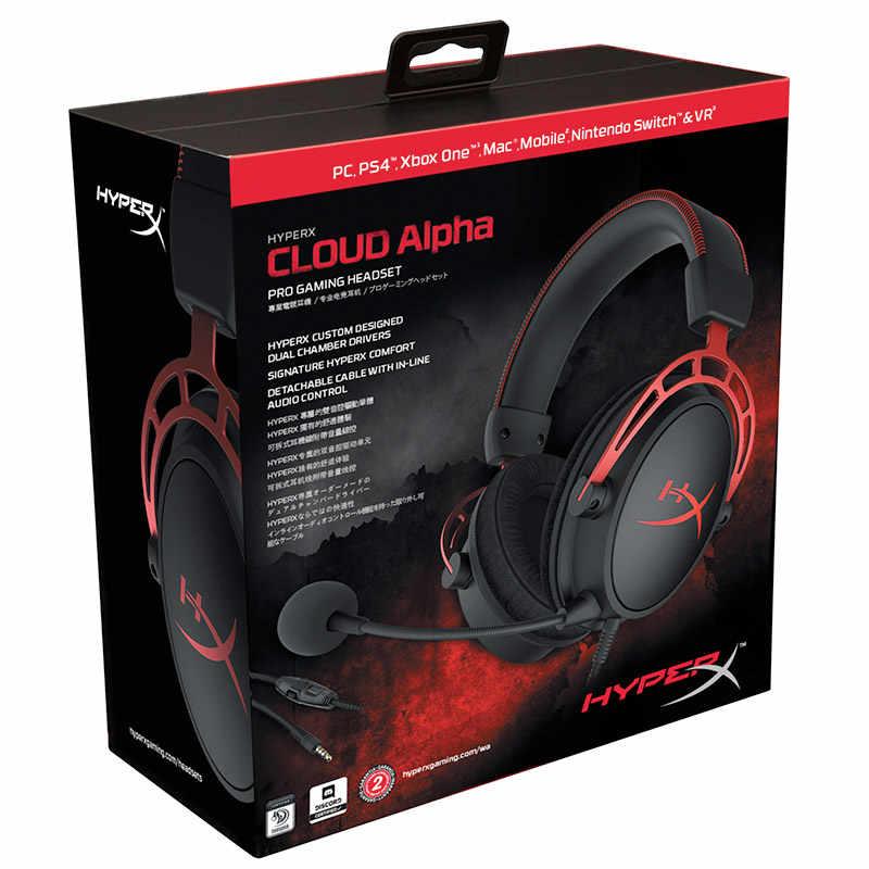 Słuchawki sportowe Kingston z mikrofonem czarne złoto edycja limitowana HyperX Cloud Alpha gamingowy zestaw słuchawkowy na PC PS4 Xbox